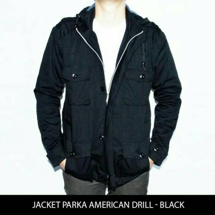 jual Jaket Parka Twill - Pure Black (JAKERT ORIGINAL)