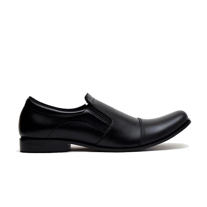 jual Sepatu Pantofel Kerja Pria Kulit Big Size 44,45,46 utk formal dn pesta - Hitam, 44