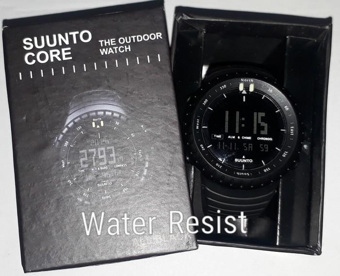 jual Jam tangan digital water resist SUUNTO Core Suunto core fullblack