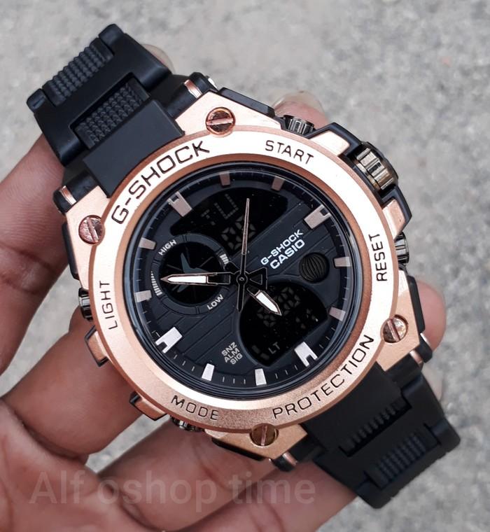 jual Jam tangan SPORT G-SHOCK G Shock GST rante mika black rosegold