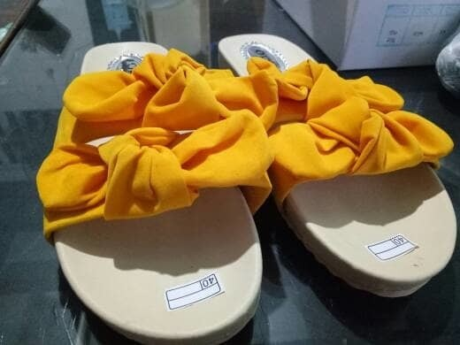 jual Sandal Wanita Slop Pita SDL80 Kuning