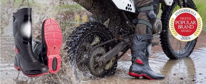 jual Sepatu Karet PVC Anti Tembus Air Banjir Hujan AP BOOTS MOTO 3 MOTO3 - Hitam, 38