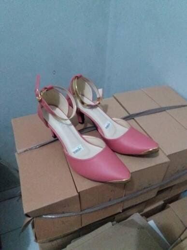 jual Sandal High Heels Wanita/Sepatu Sendal Wanita SDH20 - Pink, 37
