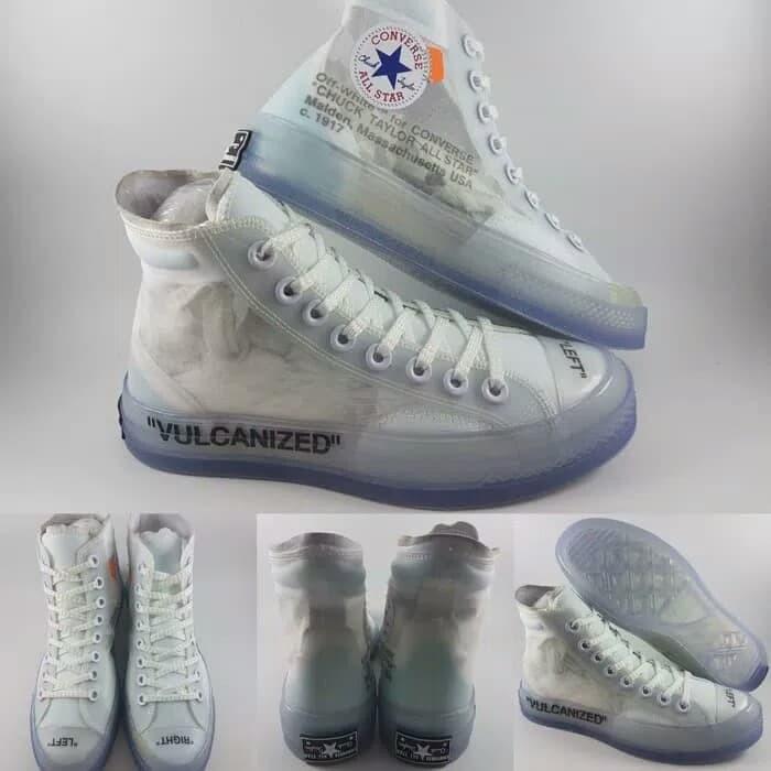 jual Sepatu Converse Vulcanized x Off White Mirror Quality Made in Vietnam