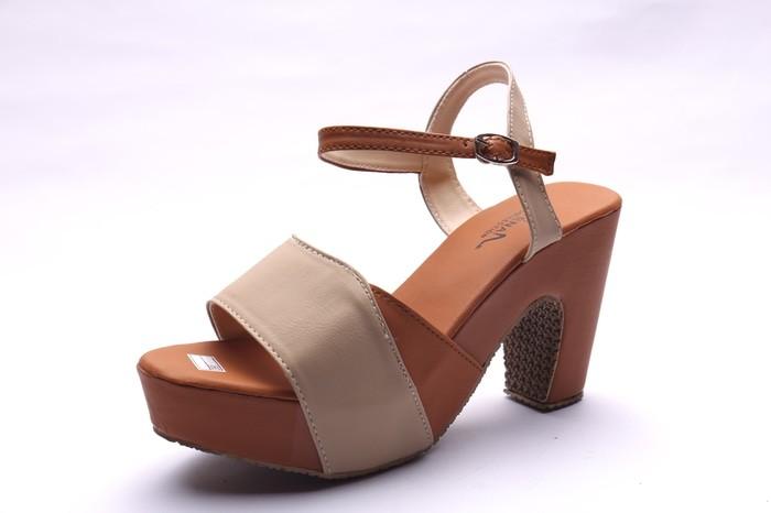 jual Sepatu Wanita High Heels Cream - HJ010