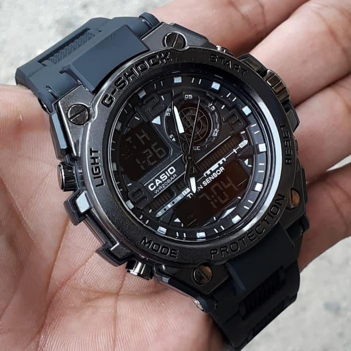 jual Jam tangan Casio pria murah G Shock GST8600 Sooter Full black