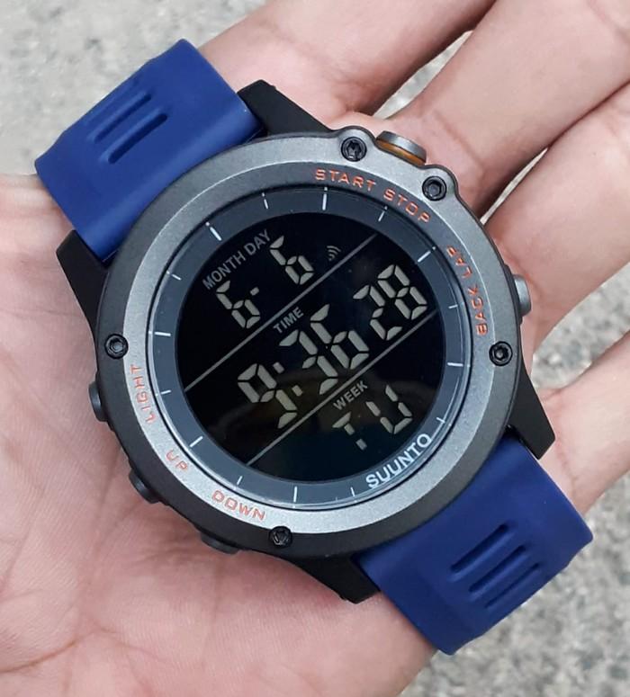 jual Jam tangan sport digital new SUUNTO core blue black