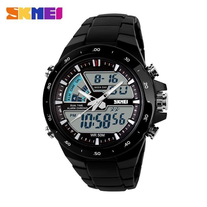 jual SKMEI Sport Watch 1016 Original Water Resistant 50M - Black - Emas