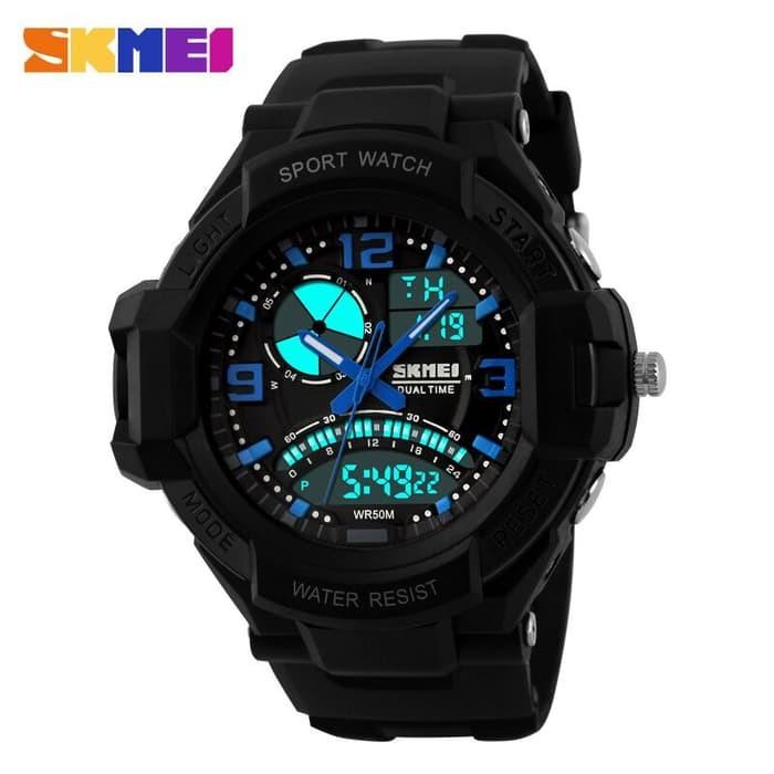 jual SKMEI Sport Watch 1017 Original Water Resistant 50M - Black
