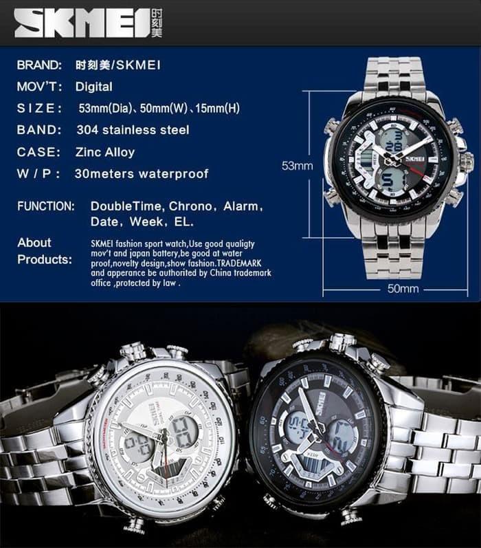 jual SKMEI Sport Watch 0993 Original Water Resistant 50M - Black