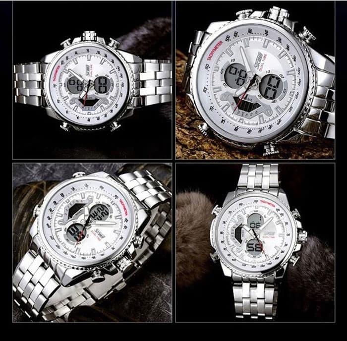 jual SKMEI Sport Watch 0993 Original Water Resistant 50M - White