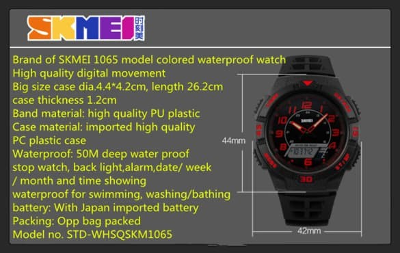jual SKMEI Sport Watch 1065 Original Water Resistant 50M - White