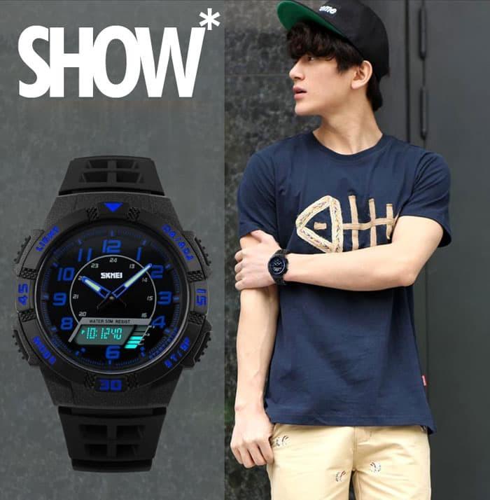 jual SKMEI Sport Watch 1065 Original Water Resistant 50M - Blue