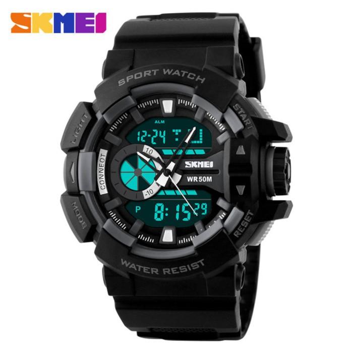 jual SKMEI Sport Watch 1117 Original Water Resistant 50M - Black