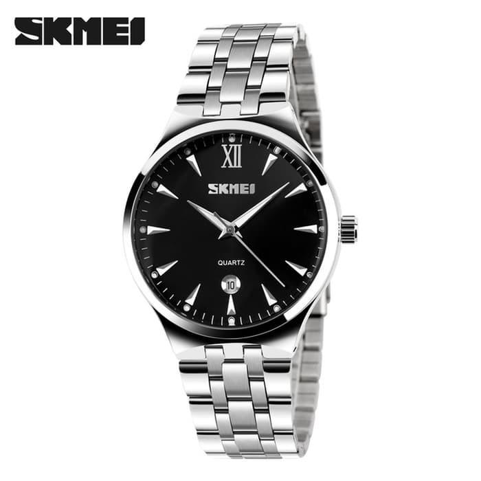 jual SKMEI Fashion Quartz Watch 9071 Original Water Resistant 30M - Black
