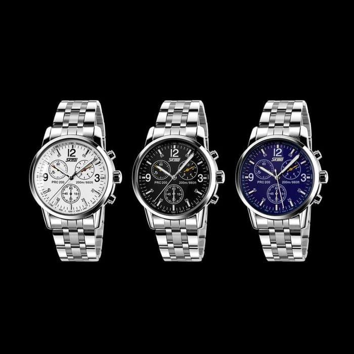 jual SKMEI Fashion Watch 9070 Original Water Resistant 30M - White
