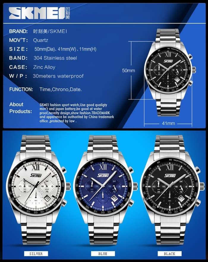 jual SKMEI Fashion Watch 9096 Original Water Resistant 30M - White