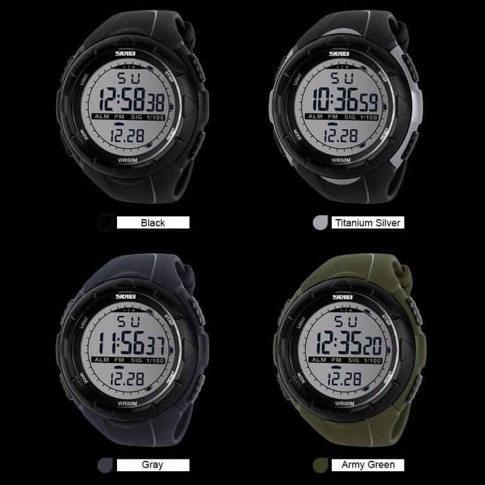 jual SKMEI Sport Watch 1025 Original Water Resistant 50M - Black