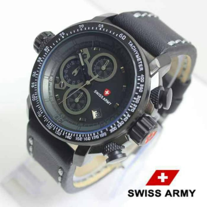 jual Jam Tangan Pria Swiss Army - Hitam