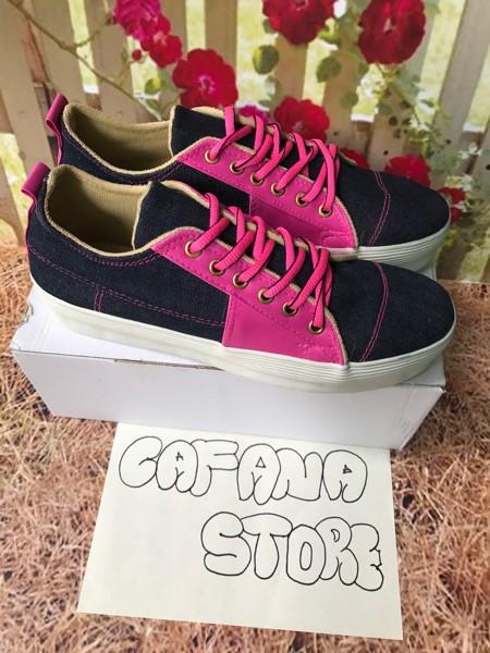 jual Sepatu Sandal Wanita Casual Kets Pink SDS92