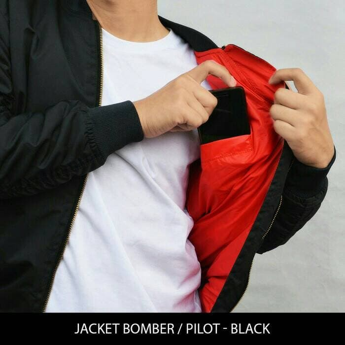 jual Jaket Pilot / Bomber Tahan angin & Anti Air Model Slim Fit
