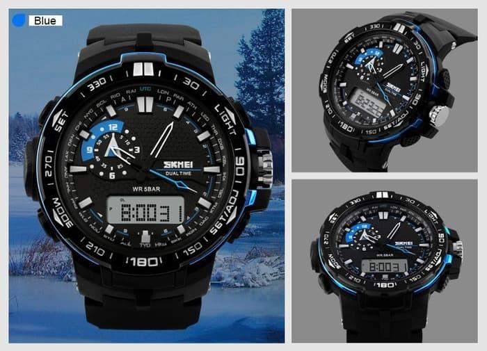 jual SKMEI Sport Watch 1081 Original Water Resistant 50M - Blue