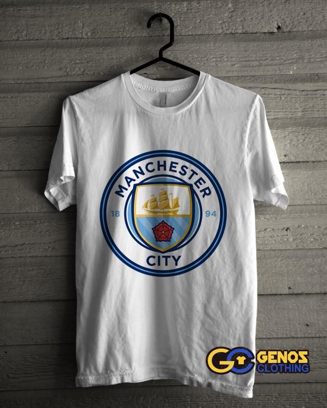 jual TSHIRT DISTRO Kaos MAN CITY 1 (Lengan Pendek) - Baju Bola Pria Wanita