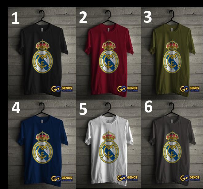 jual TSHIRT DISTRO Kaos REAL MADRID 1 (Lengan Pendek) - Baju Bola Pria Wani