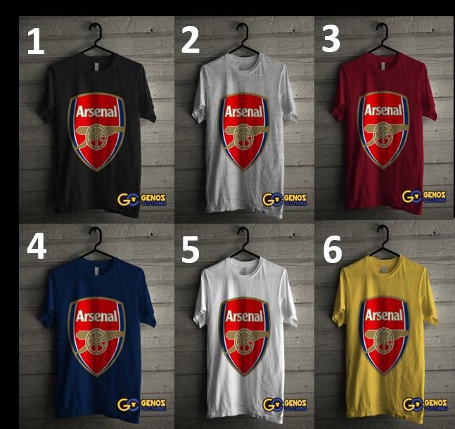 jual TSHIRT DISTRO Kaos Arsenal 1 (Lengan Pendek) - Baju Bola Pria Wanita