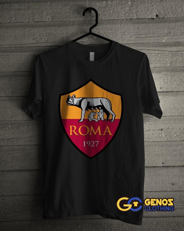 jual TSHIRT DISTRO Kaos AS ROMA 1 (Lengan Pendek) - Baju Bola Pria Wanita