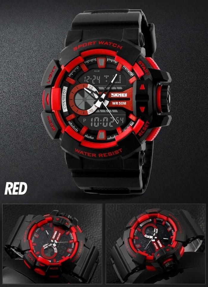 jual SKMEI Sport Watch 1117 Original Water Resistant 50M - Red