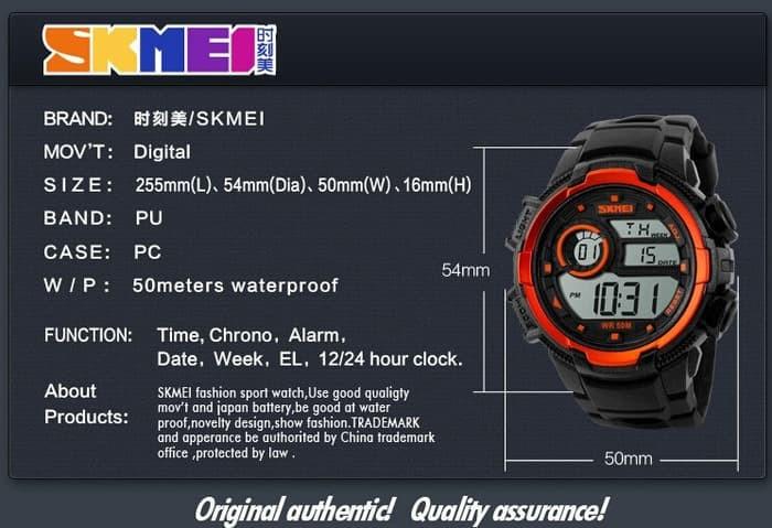 jual SKMEI Sport Watch 1113 Original Water Resistant 50M