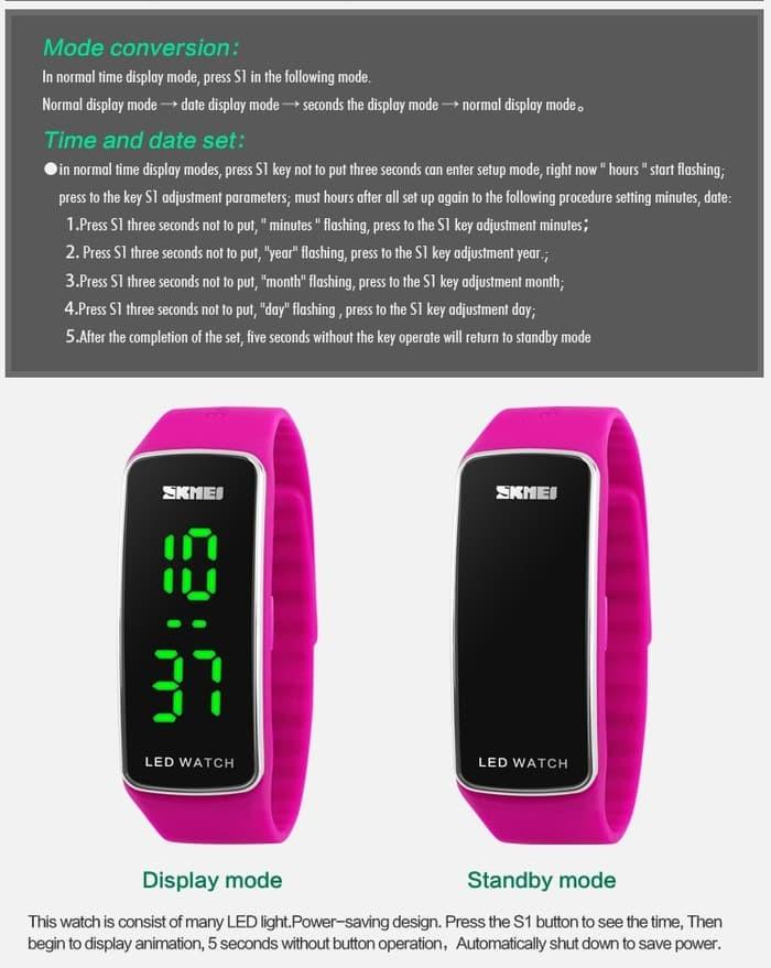 jual SKMEI Sport LED Watch 1119 Original Water Resistant 50M