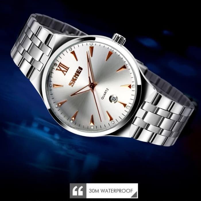 jual SKMEI Fashion Quartz Watch 9071 Original Water Resistant 30M - Golden