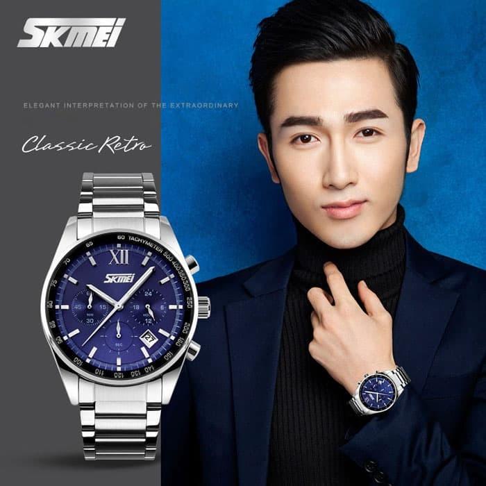 jual SKMEI Fashion Watch 9096 Original Water Resistant 30M - Blue