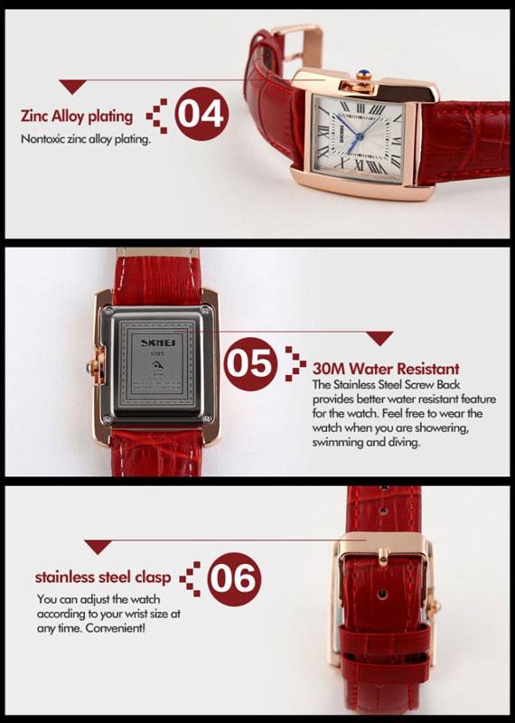 jual SKMEI Woman Fashion Watch 1085 Original Water Resistant 30M - Red