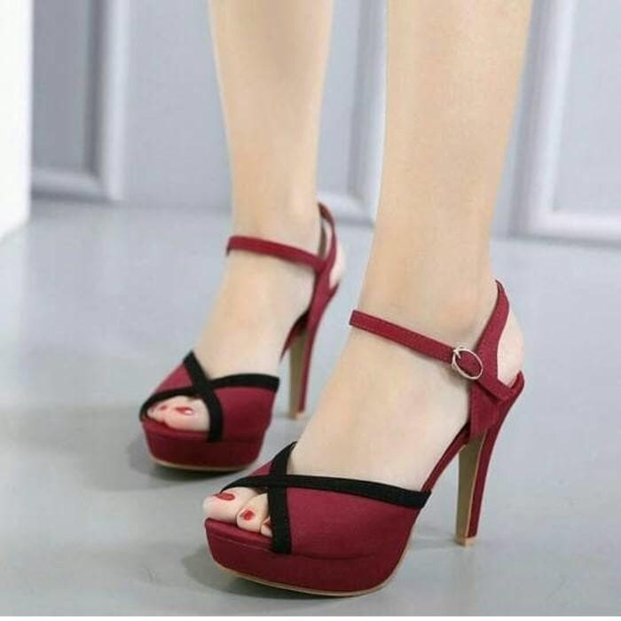 jual Sandal High Heels Wanita SDH166