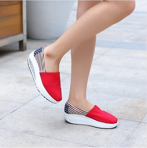 jual Sepatu Bendera USA Wanita SDS109 - Dongker, 37