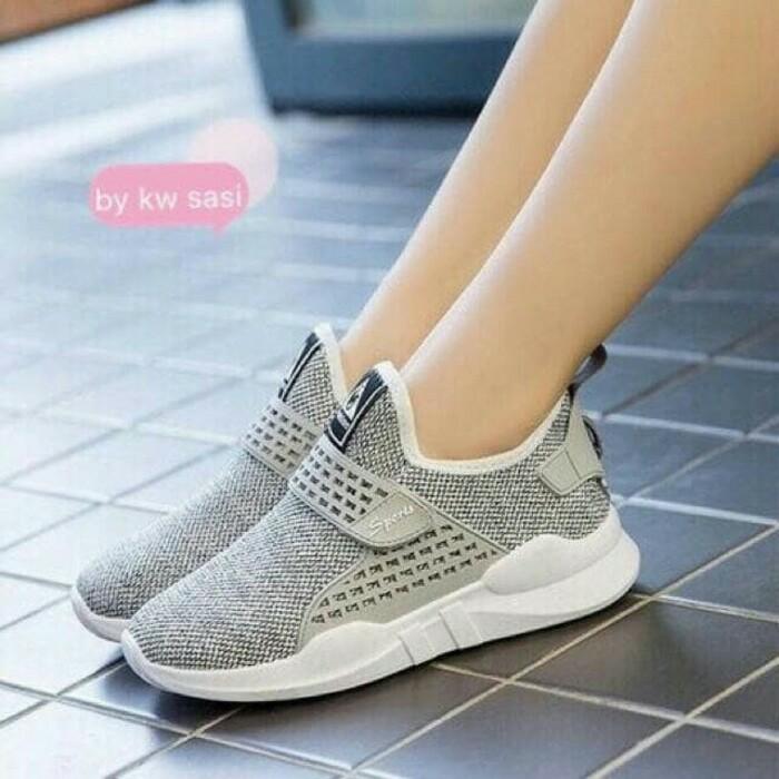 jual Sepatu Wanita Slip On SDS231 Abu