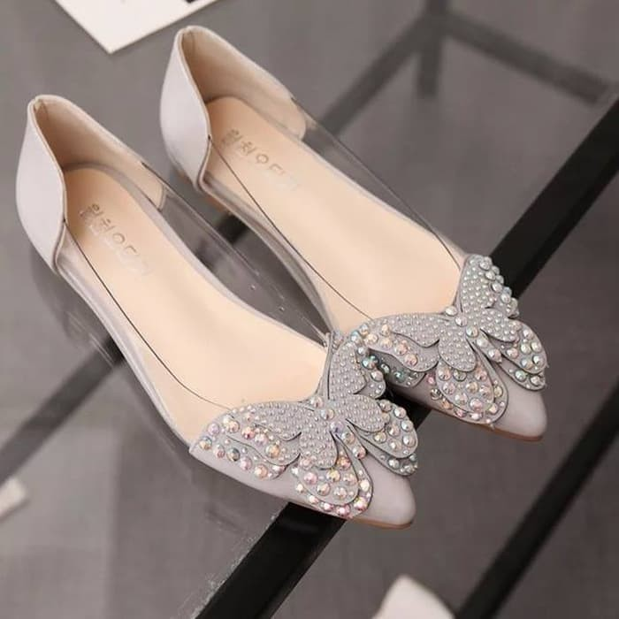 jual Sepatu Wanita Flat Shoes Kupu-Kupu SDB81