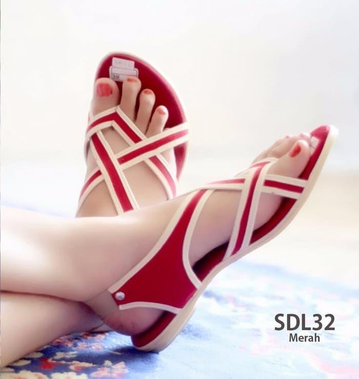 jual Sandal Sepatu Flat Tali | Sendal Sepatu Wanita SDL32