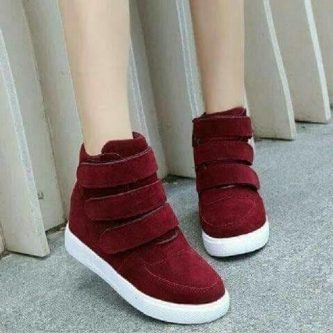 jual Sepatu Boots Wanita Korea SBO331 Maroon