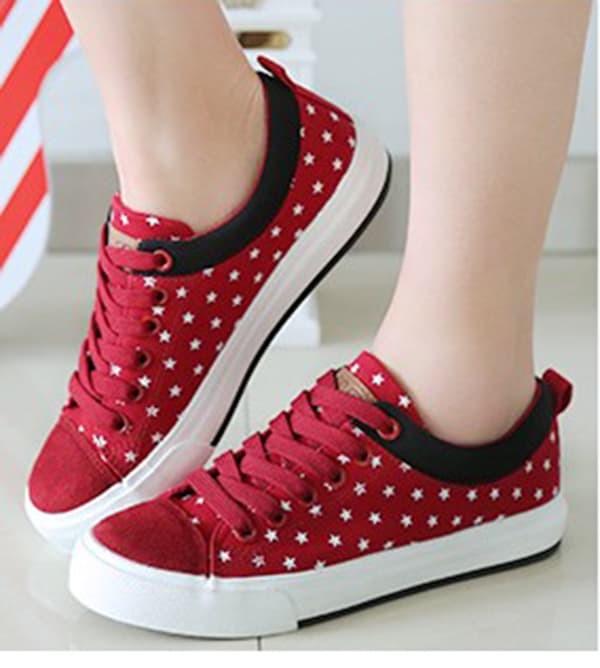 jual Sepatu Kets Wanita Casual Merah SDS122