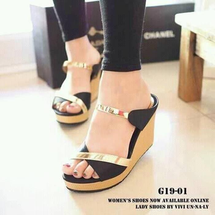 jual Sandal Wedges Wanita SDW92