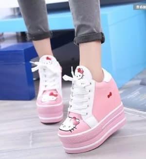 jual Sepatu Boots Wanita Korea Hello Kitty SBO314