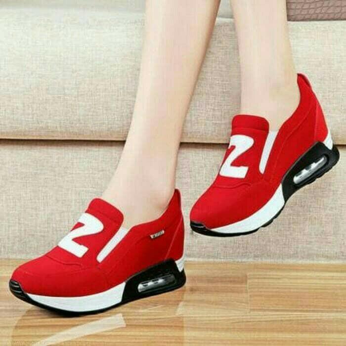 jual Sepatu Wanita Slip On SDS233 Merah