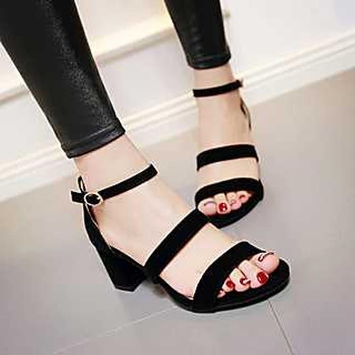jual Sandal High Heels Wanita Hak Tahu SDH156
