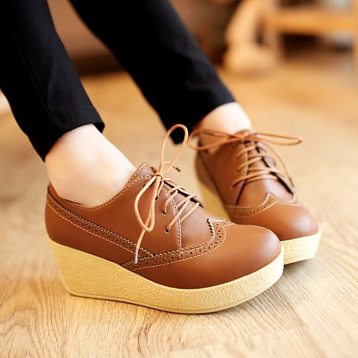 jual Sepatu Platform Wedges Wanita SDW75