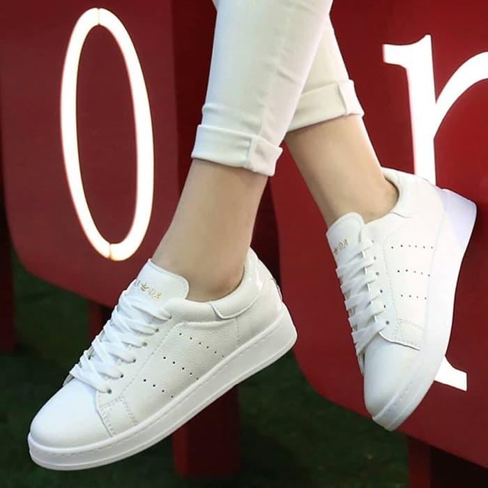 jual Sepatu Wanita Kets Casual SDS141 - Putih, 36