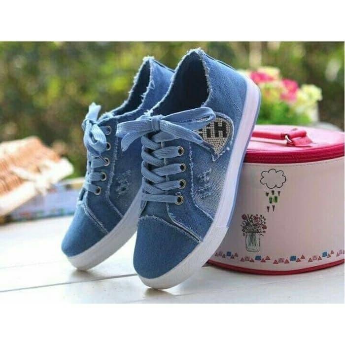 jual Sepatu Wanita Kets Casual Jeans SDS225